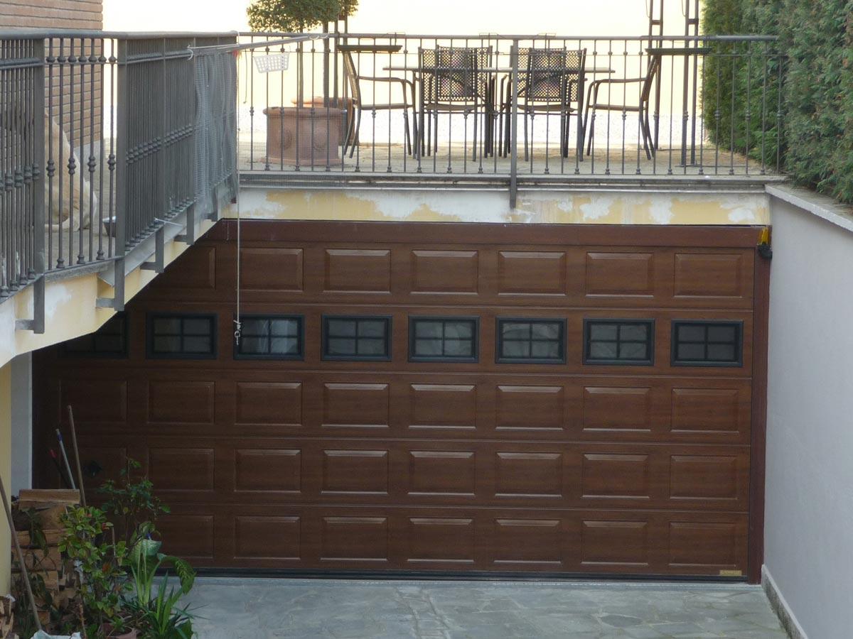 porta garage sezionale legno cassettato
